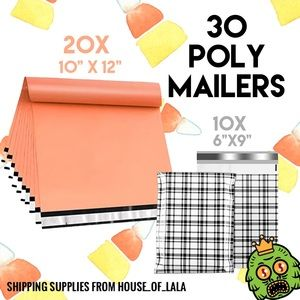 30 poly mailer set shipping bags
